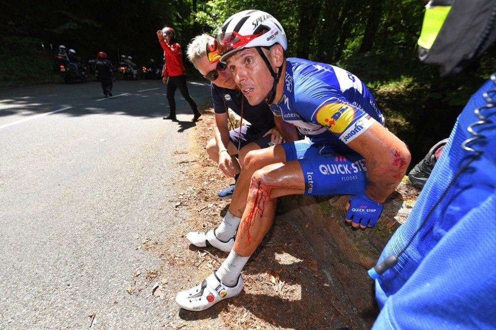 Caduta Gilbert Tour de France stagione 2018
