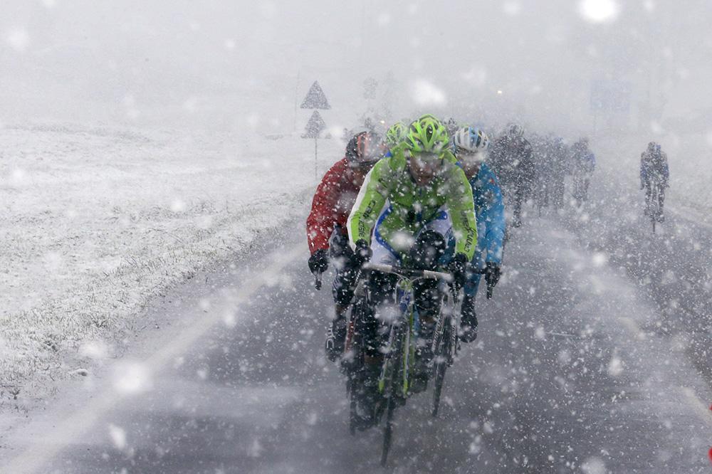 Milano Sanremo 2013, sotto la neve